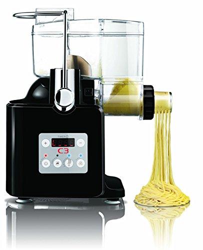 C3 Basta Pasta vollautomatische Nudelmaschine (Schwarz)