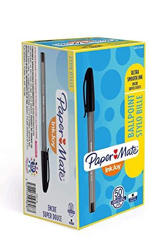 Papermate S0957120 Inkjoy 100 Sistema di Inchiostro, Punta Media da 1.0 mm, Scatola da 50, Nero