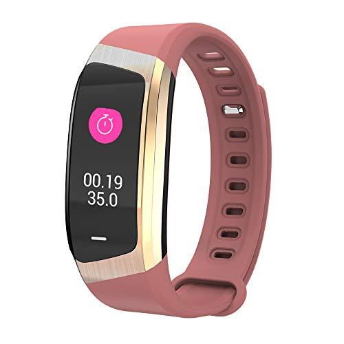 LBAFS Fitness Tracker, Wasserdicht Smart Armband mit Herzfrequenz-Blutdruck-Monitor Schrittzähler, Beste Geschenk,C