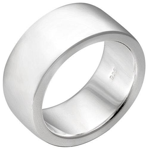 Vinani Ring breit glänzend schlicht massiv Sterling Silber 925 Größe 58 (18.5) REG58