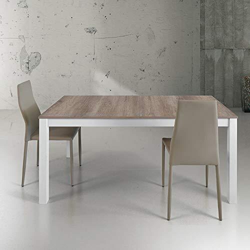 Milani Home s.r.l.s. Tavolo da Pranzo Moderno di Design Allungabile Cm 90 X 160/203/246 Struttura...