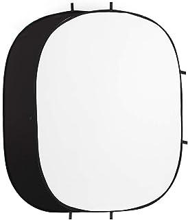 楕円 背景パネル 背景板 折りたたみ 150 X 200 CM ブラック&ホワイト(2イン1) クロマキー背景 リバーシブル 背景布 スタジオ背景 スクリーンシート写真撮影用