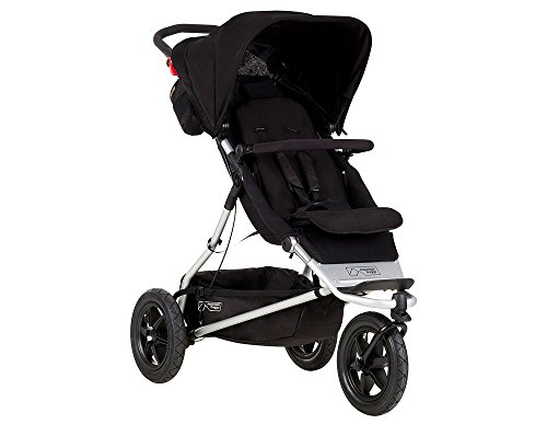 Mountain Buggy +One Stroller with Second Seat & Cocoon, Black