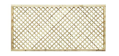 PGS 183cm x 90cm (6x3) Elite Diamond Trellis/Lattice Garden Screening Wood Fence
