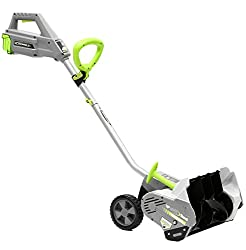 Earthwise SN74016 40-Volt Cordless Electric Snow Shovel, Brushless Motor, 16-Inch width, 300lbs/Minute (Battery and Charger Included)