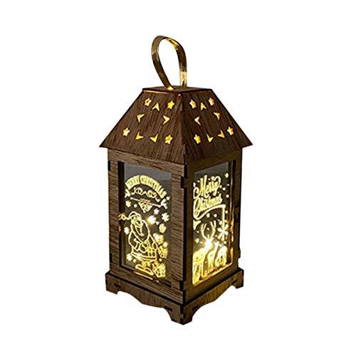 Foxlove Linterna De Navidad Lámpara De Navidad con Funcionamiento Lámpara Colgante Decoración De Navidad Luces | B