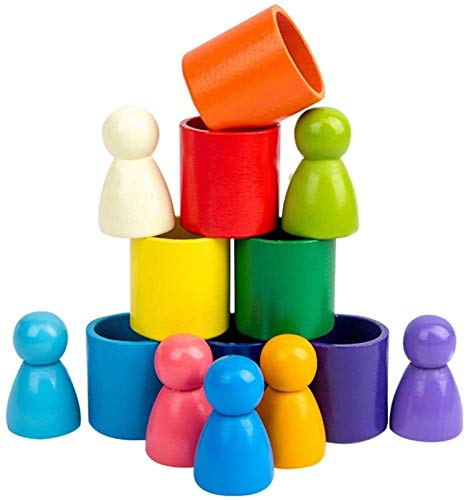 XIAOGING Rainbow Amigos Peg muñecas de...