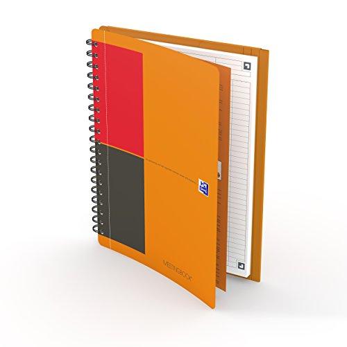 Preisvergleich Produktbild OXFORD 400080789 Meetingbook International B5 liniert 80 Blatt 2 in 1 Collegeblock und Gummizugmappe orange