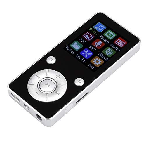 Socobeta T3 MP4 Lettore Video Musicale Portatile 4.2 Scheda Plug-in Display da 1,8 Pollici Nero Argento Blu(Blu)