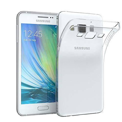 EAZY CASE Hülle kompatibel mit Samsung Galaxy A3 (2015) Schutzhülle Silikon, Ultra dünn, Slimcover, Handyhülle, Silikonhülle, Backcover, Durchsichtig, Klar Transparent