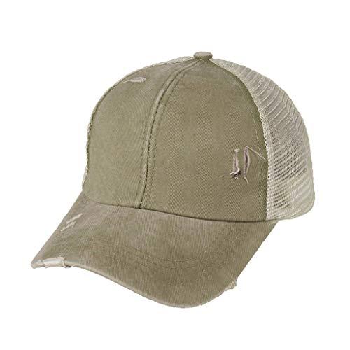 YANGYI Steinwäsche Hut Baseball Cap Verstellbar Visierkappe Snapback Unisex für Herren Damen Sommer Reise Freizeit