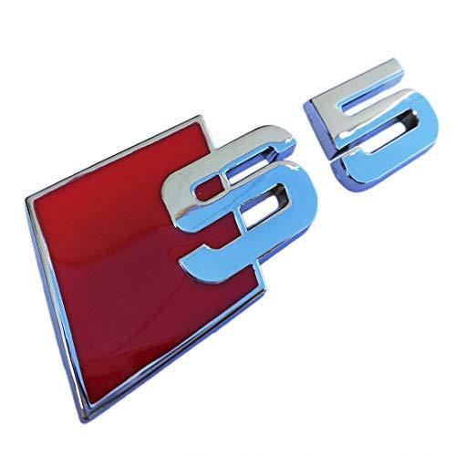 Cosmoparts - Logo per Audi S5, in Metallo Cromato