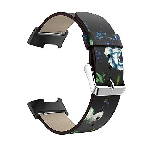 Correa De Reloj Compatible con Charge 3 / Charge 4, Correas De Repuesto Strap De Reloj De Cuero Cinturones Estampados Bandas Transpirables Pulsera Compatible con Charge 3 / Charge 4,D