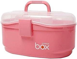 AINIYF Household Medicine Box Medicine Storage Box Multi-Layer Medicine Box Portable First Aid Kit Multi-Function Medicine Box (Color : Pink)