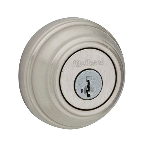 Kwikset 985 Double Cylinder Deadbolt featuring SmartKey in Satin Nickel