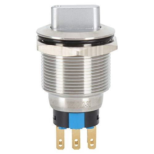 20pcs Bem-22-31 Interruptor de perilla de 3 posiciones Interruptor giratorio a prueba de agua con interruptor giratorio de 3 posiciones de autobloqueo para fabricación de maquinaria