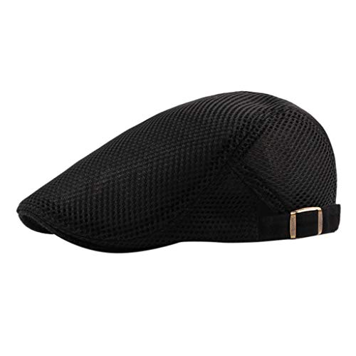 Men Breathable Mesh Baseball Dad Cap Newsboy Beret Hat, Headgear Cap for Fall and Winter