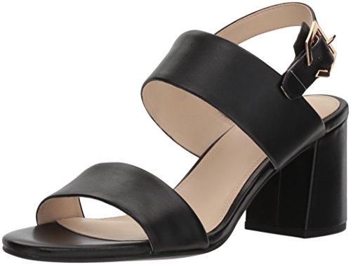 Cole Haan Women's Blakely MID Sandal Heeled, Black Leather, 6.5 B US