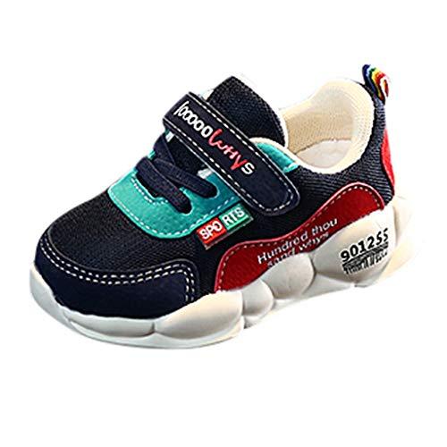 Alwayswin Mesh Atmungsaktiv Sneaker Schuhe Kinder Jungen Mädchen Beiläufige Flache Sport Schuhe Böhmische Freizeitschuhe Bequem Klettverschluss Turnschuhe Soft Lauflernschuhe