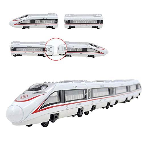 Juguetes de Tren, CRH Juego de Trenes de pasajeros Metro Subway Railway Model Toy Magnetic Metal Pullback Travel Trian Diecast Toy Play Regalo para niños y niños pequeños