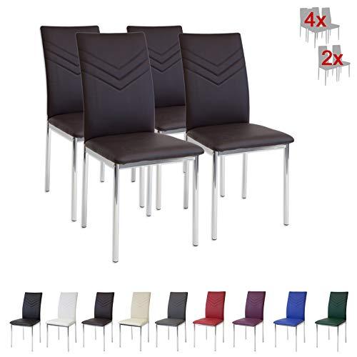 Albatros 2937 Verona Set de 4 sillas de Comedor, marrón