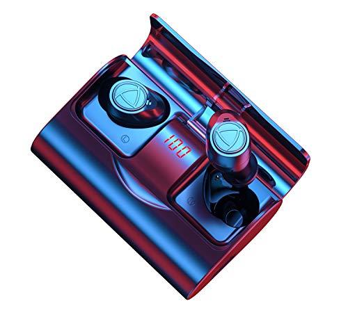 Auriculares inalámbricos Bluetooth 5.1 IHOUMI, para Hacer Deporte, Auriculares estéreo 6D de Alta fidelidad, Graves potentes, IPX7 Impermeable,con Caja de Carga y micrófono, Control táctil