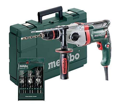 Preisvergleich Produktbild Metabo 600782900 Schlagbohrmaschine SBE 850-2 inkl. Bohrerset / Schnellspannfutter Futuro Plus,  Handgriff,  Anschlag,  Koffer / V Elektronik / S Automatic / Rechts-Linkslauf (850 W / 36 Nm)
