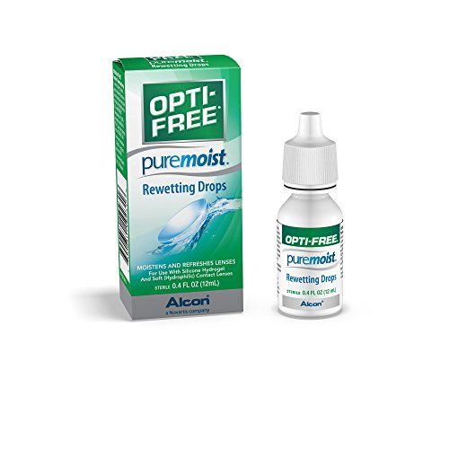 Opti-Free Puremoist Rewetting Drops, 12-mL