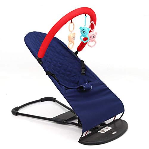 KUANDARDZ Seguridad Ajustable Columpio Hamaquita, Hamaca para Bebés Plegable, Swing Natural, con El Asiento Ergonómico Cómodo Multifuncional, Blue