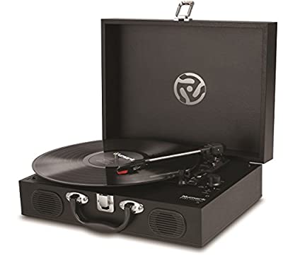 Numark PT01 Touring | Portable Suitcase Turntable with USB Connectivity for Conversion, Retro Styling, Onboard Stereo Speakers & Built in Rechargeable Battery - Three-Speed (33 1/3, 45 and 78rpm) by inMusic Brands Inc.