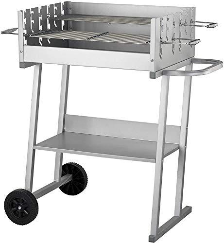 ACTIVA - Barbecue a carbonella, XXL, colore: Argento
