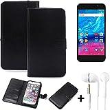 K-S-Trade® Wallet Case Handy Hülle Für Archos Core 55P