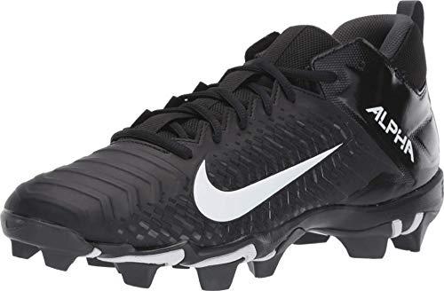 Nike Men's Alpha Menace 2 Shark Football Cleat Black/White/Anthracite Size 9 M US