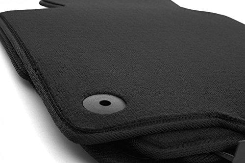 kh Teile Lot de 4 tapis de voiture – En velours – Coloris noir – Qualité d'origine