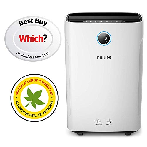 Philips Series 3000i 2-in-1 Purifier & Humidifier, removes 99.97% allergens &...