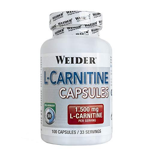Weider L- Carnitina 1500. Potente Quemagrasa (100 Cápsulas)