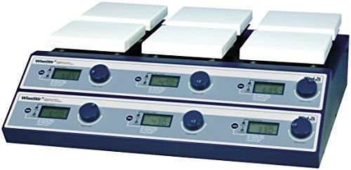 Witeg Magnetrührer SMHS-6 mit 2x3 Stellen 350°C einzeln regelbar, zum gleichzeitigen Mischen, Rühren und Erhitzen