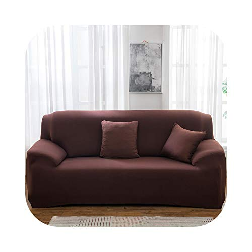 Sofa Covers - Funda para sofá de 1/2/3/4 plaza, funda ajustada, tecla de asiento con sección, elástica, tamaño A20-2seats 145-185 cm