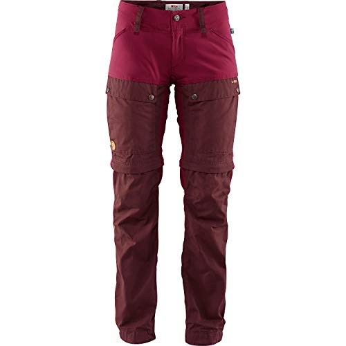 FJÄLLRÄVEN Damen Keb Gaiter Trousers W Hose, lila (dunkler Granat/Pflaume), 42