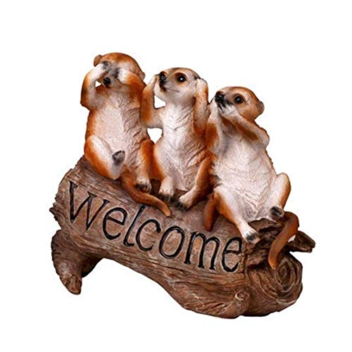 Statues Garden Ornaments Outdoor Mongoose Welcome Sign Greenland Welcome Sign Pastoral Style Animal Decoration Villa Decorations