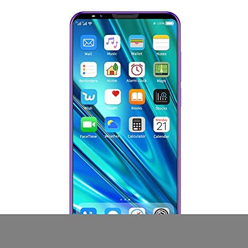 Semoic I12Mini TeléFono Inteligente de Pantalla Completa MTK6572 Red 3G 512 + 4 GB Tarjeta Dual Modo de Espera Dual, Desbloqueo Facial Enchufe de la UE B