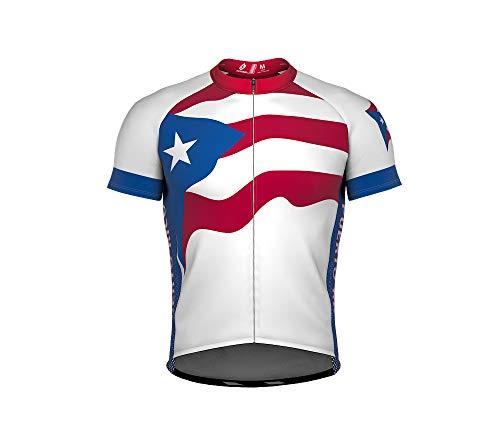 Puerto Rico Bandera Maillot de Ciclismo Manga Corta para Hombre - Talla 2XL: Amazon.es: Deportes y aire libre