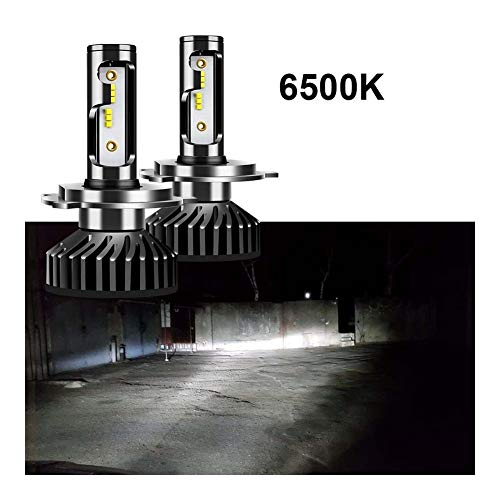 Uttril CANBUS H4 H7 LED 4300K 5000K 6500K H1 H3 H8 H9 H11 9005 HB3 9006 HB4 Mini Linterna del Coche 60W 12000lm Auto Niebla 12V Luz (Emitting Color : 6500K, Socket Type : H4)