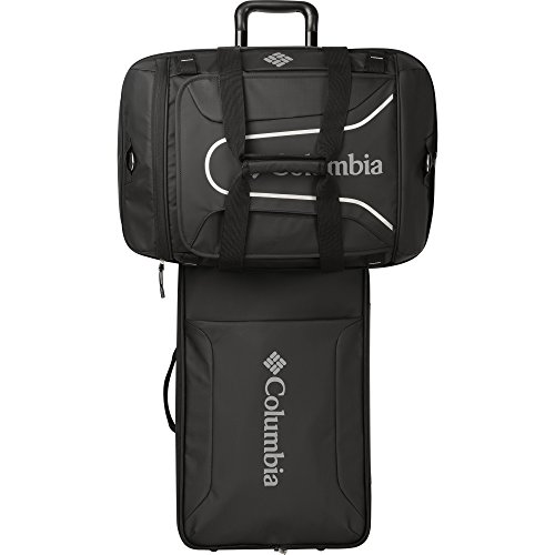 Columbia 21' Rolling Carry-on with Zip Off Duffle Duffel Bag, Black, One Size
