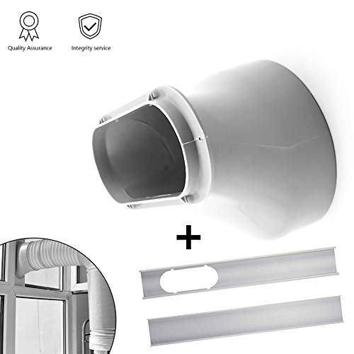 Window Slide Kit Plate/Window Adapter, Portable AC Vent Kit Exhaust Hose Connector Kit Window Slide Kit Plate 6 inch Window Adapter for Portable Air Conditioner (Window Vent Kit For Lg Portable Air Conditioner)