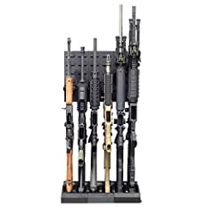 "INCLUDES - The Retrofit Kit 6 can fit 6 sporting rifles, tactical long guns, or traditional firearms. Ideal for small spaces and comes with 6 cradles (2.5""w x 6.5""d), 3 modular grid (5 7/8""w x 12""h), 3 interlocking stock base (5 7/8""w x 10""d x 2""h) R..."