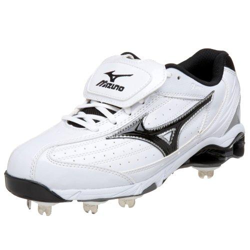 Mizuno Herren 9 Spike Classic G5 Low Baseball Cleat, Weiß (weiß / schwarz), 36.5 EU