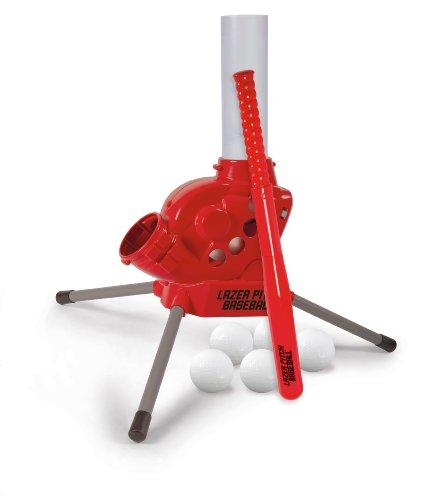 Diggin Lazer Pitch Radio Control Baseball Pitching Machine. Kids Batting Practice Throwing Trainer