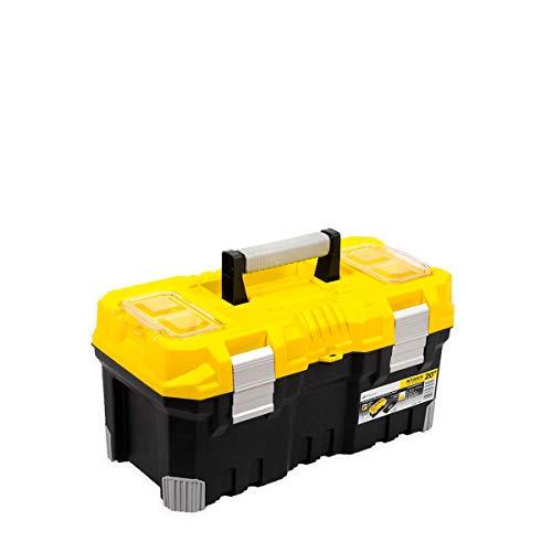 stabiler Werkzeugkoffer TITAN 500 x 260 x 240 mm Alu Griff gelb