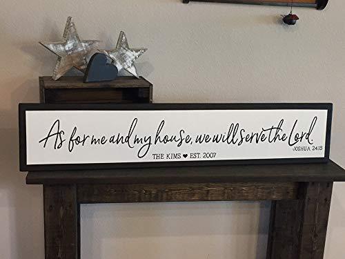 CELYCASY Cellayay Gerahmter Stil As for me and My House LHS100 Schild mit Aufschrift Love Bibel (englischsprachig)